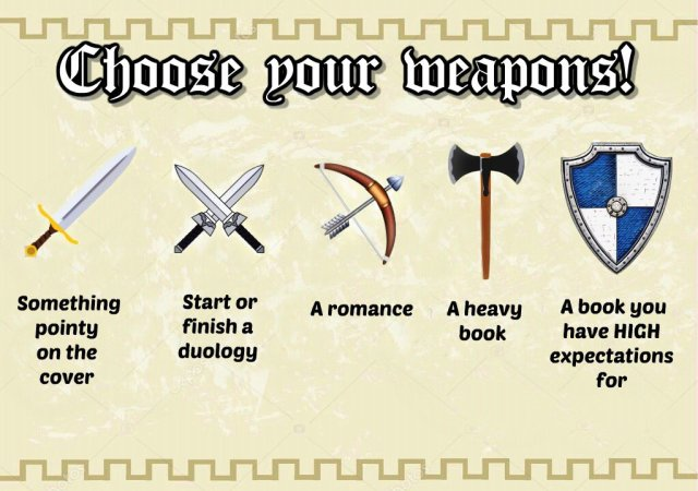 medievalathon weapons